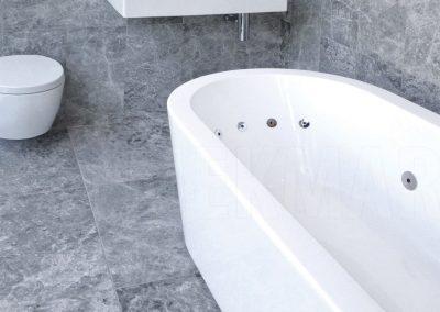 Silver Travertine floor Tiles in bathroom