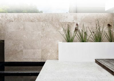 Travertine Tiles on a wall