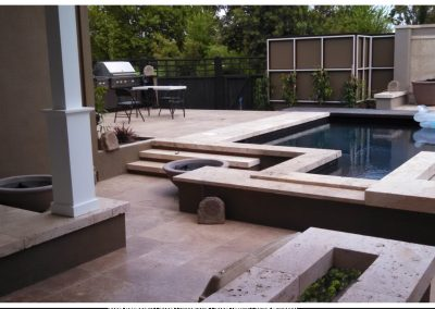 Walnut Travertine pavers and tiles