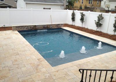 Travertine pavers for paving around pools non slip