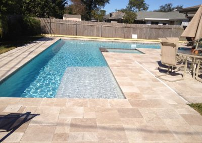 Travertine pool pavers french pattern classic