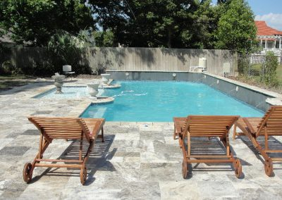 silver travertine pool tiles