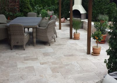 travertine ivory french pattern