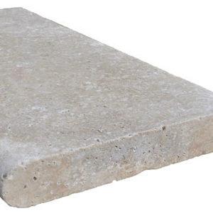 Ivory Travertine Bullnose Coping Tile