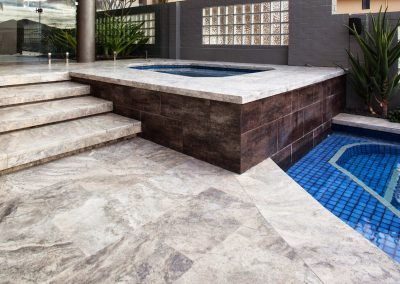 silver travertine pavers