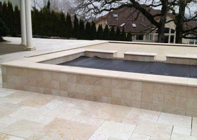 travertine unfilled and tumbled
