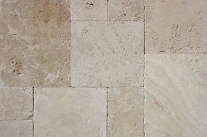 Ivory Travertine French Pattern