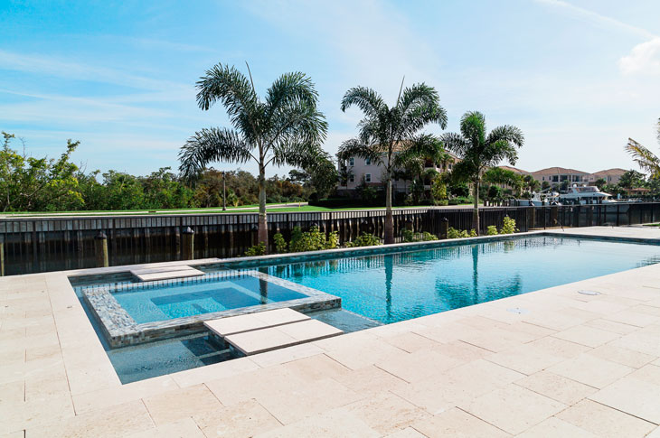 Outdoor Travertine Pool Pavers