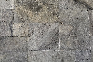 Silver Grey Travertine French Pattern